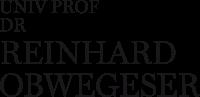 Prof. Dr. Reinhard Obwegeser